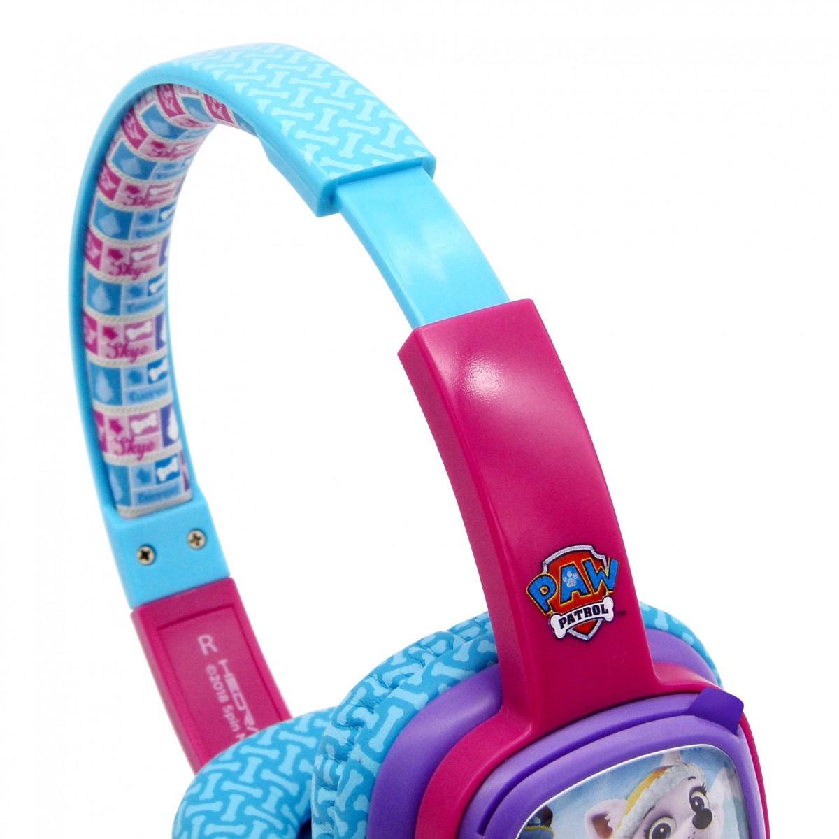 Nickelodeon Paw Patrol Card Headphone Girls Pink Nickelodeon
