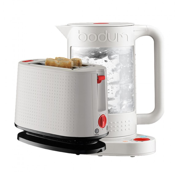 Bodum Double Wall Kettle + Toaster (White)