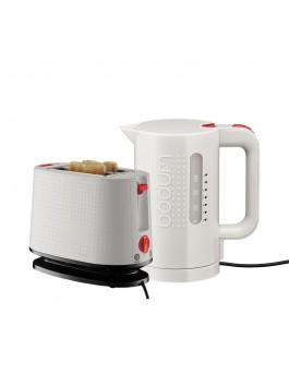Bodum Electric Kettle + Toaster (White)