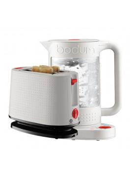 Bodum Double Wall Kettle + Toaster (White)