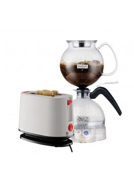 Bodum ePEBO Coffee Maker + Toaster (White)