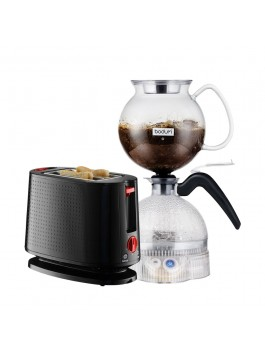 Bodum ePEBO Coffee Maker + Toaster (Black)
