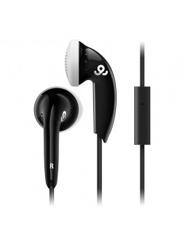 GoGear Cozy Buds, Stereo Earbuds with mic, Black