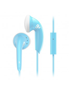 GoGear Cozy Buds, Stereo Earbuds with mic, Blue