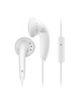 GoGear Cozy Buds, Stereo Earbuds with mic, White