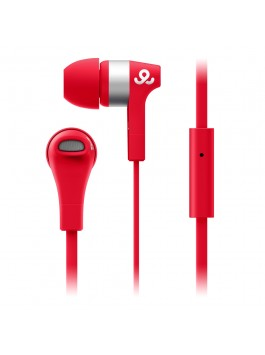 GoGear Turbos, Turbo design earphones with mic, Red
