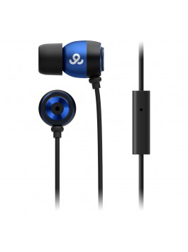 GoGear Alumies, Aluminium earphones with mic, Blue