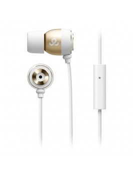 GoGear Alumies, Aluminium earphones with mic, White