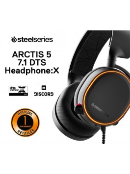 SteelSeries Arctis 5 Black (RGB) 7.1 DTS Headphone:x (2019 Edition)